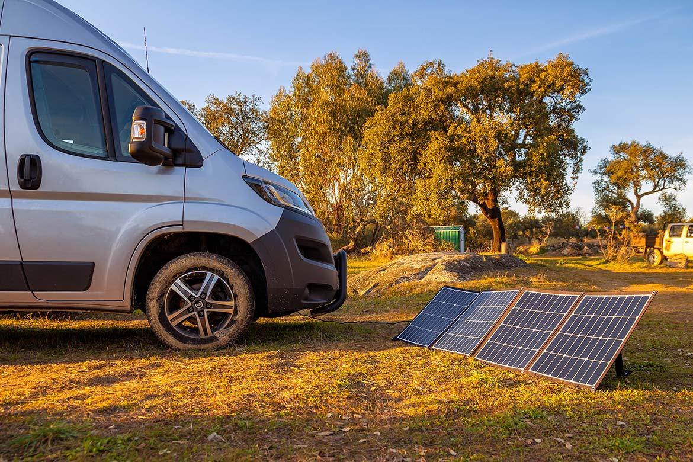 Wohnmobil Solaranlage Kastenwagen Faltmodul