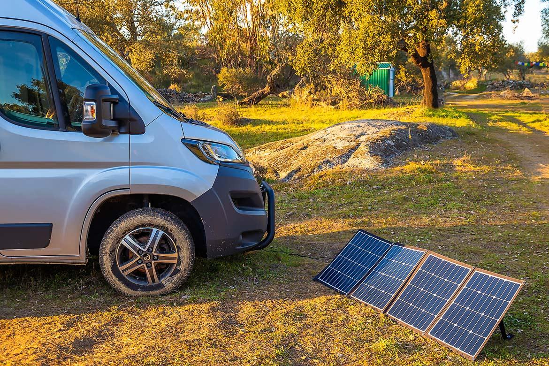 Faltmodul mobile Solaranlage