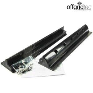 Haltespoiler schwarz für Solarmodule Länge 680mm (2 Stück)