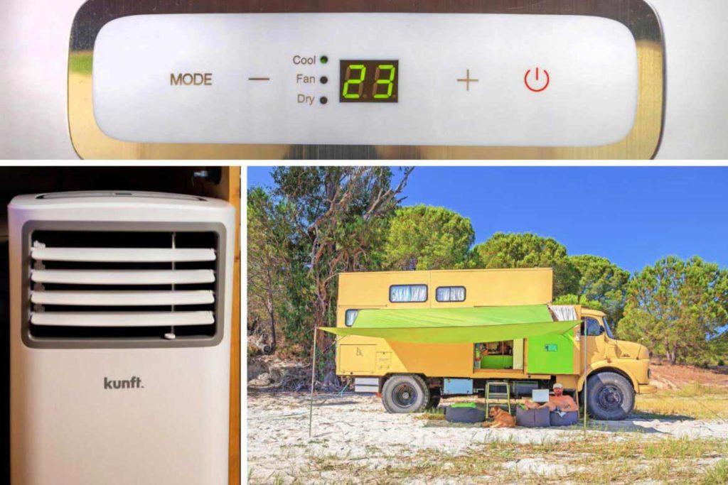 Mobile Klimaanlage im Wohnmobil betreiben
